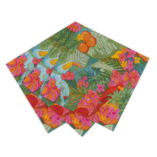 Floral Fiesta - Tropical Paper Napkins