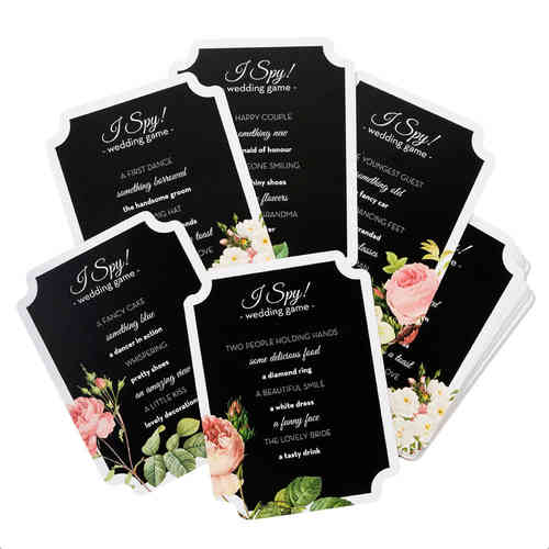 Blossom & Brogues - Wedding I Spy Cards