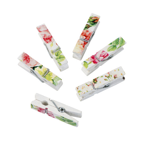 Blossom & Brogues - Mini Floral Pegs