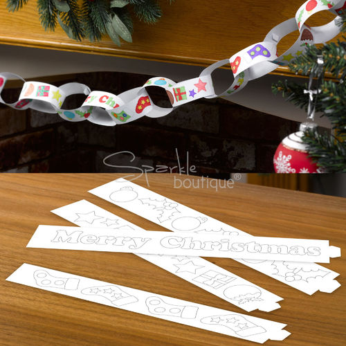 Christmas Craft Colour-In Paper Chains
