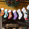 Christmas Craft Colour-In Stocking Bunting