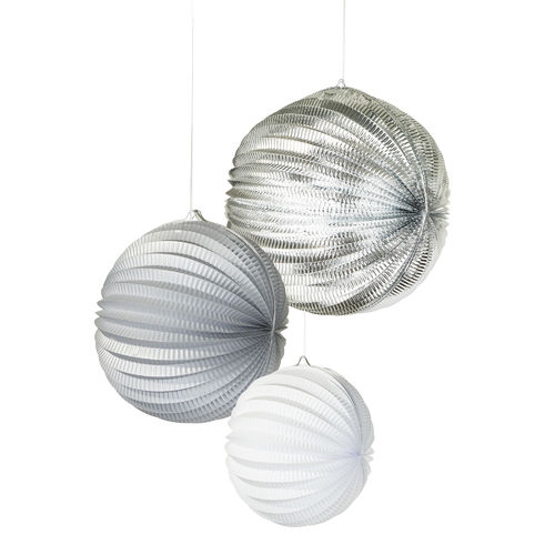 White & Silver Hanging Lanterns