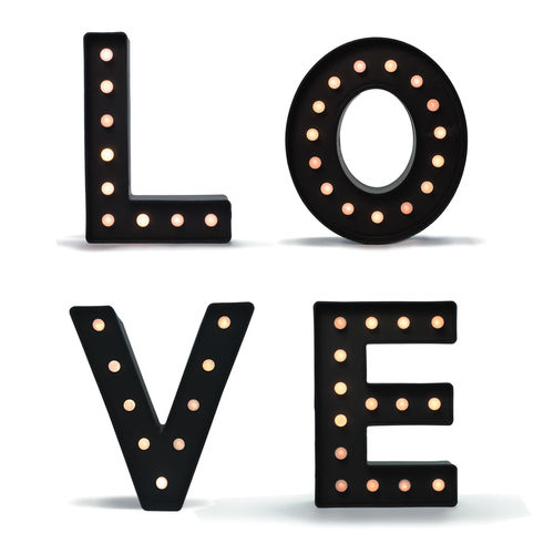 Light-Up Marquee Style LOVE Sign Letters