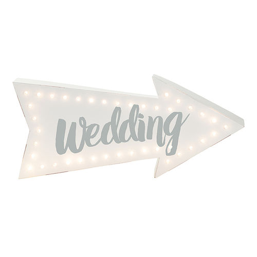 Light Up Wedding Arrow Sign