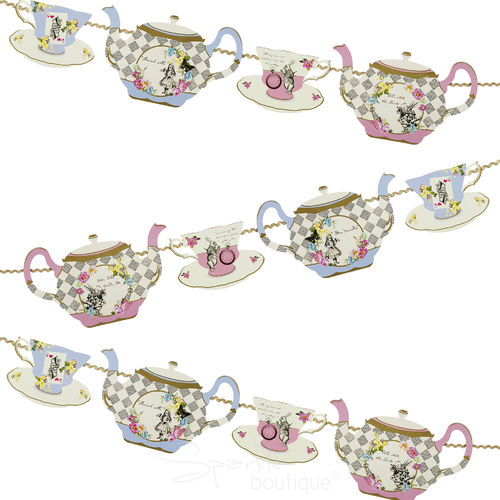 Truly Alice - Teapot Bunting