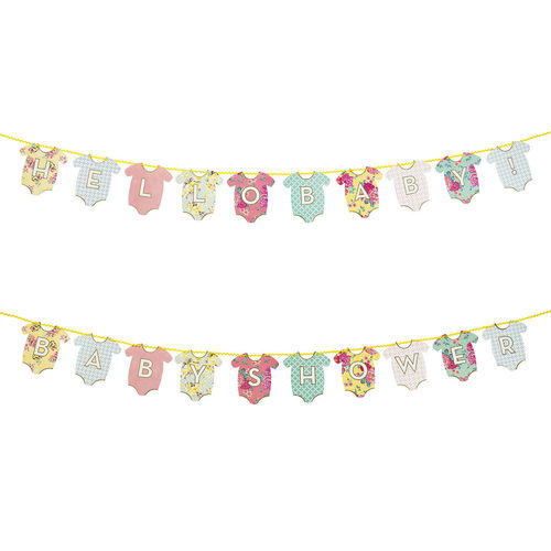 Reversible Baby Shower Garland