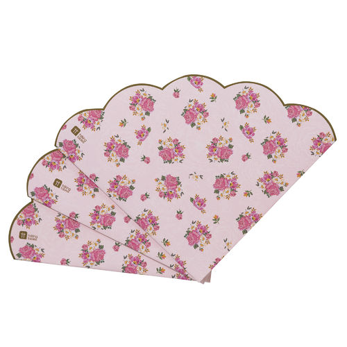 Truly Scrumptious - Floral Scalloped Edge Napkins