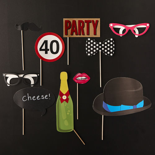 40th Birthday Party Photo Booth Kit
