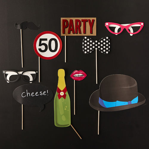 50th Birthday Party Photo Booth Kit