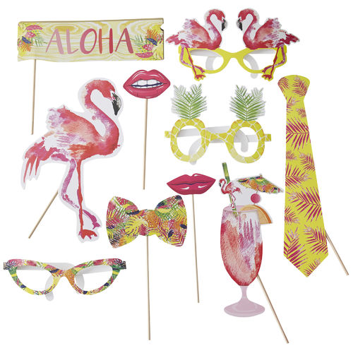 Tropical Party Photo Booth Props