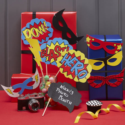 Comic Super Hero Photo Booth Props