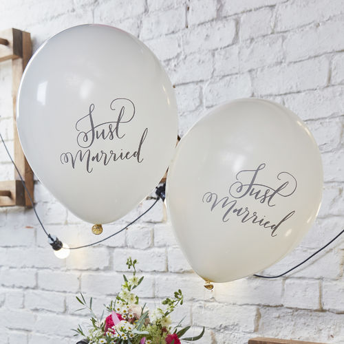 Boho Wedding Balloons - Just Married