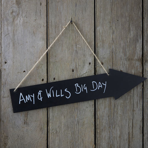 Large Hanging Chalkboard Arrow