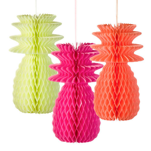 Fluorescent Honeycomb Pineapple Decorations