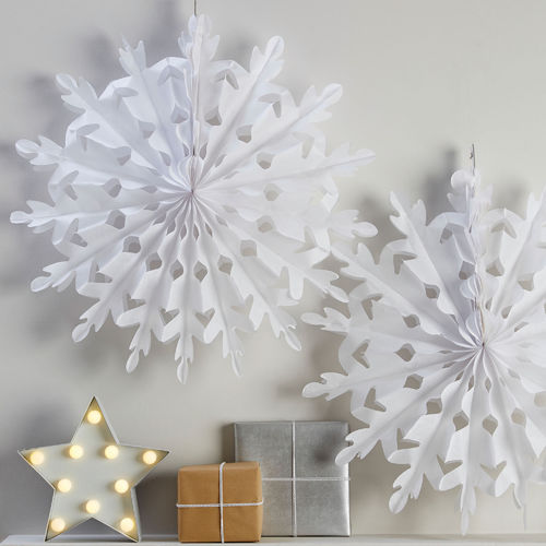 Large Hanging Snowflake Christmas Decorations