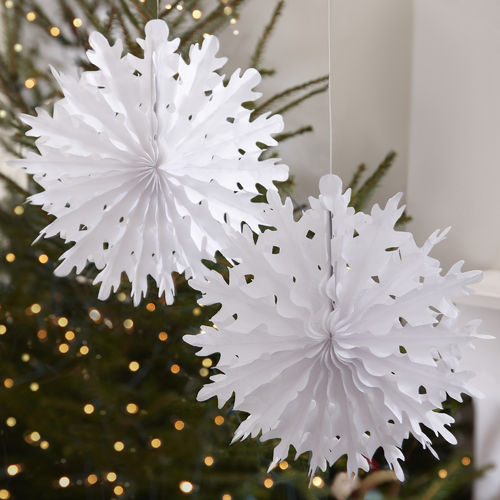 Small Hanging Snowflake Christmas Decorations
