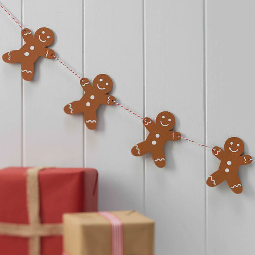 Wooden Gingerbread Man Bunting
