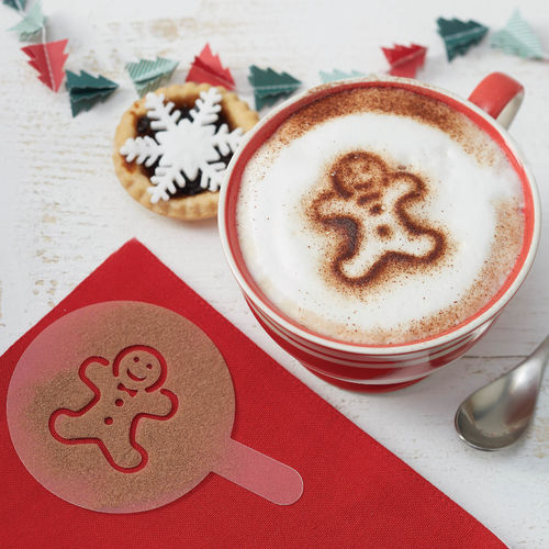6 x Christmas Hot Chocolate Stencils