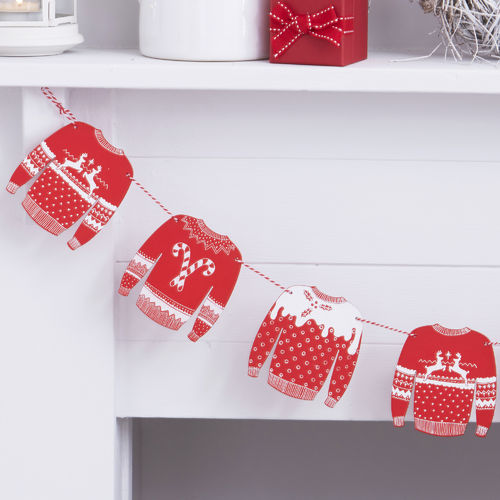 Christmas Jumper Wooden Bunting
