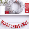 Red 'Merry Christmas' Wooden Bunting