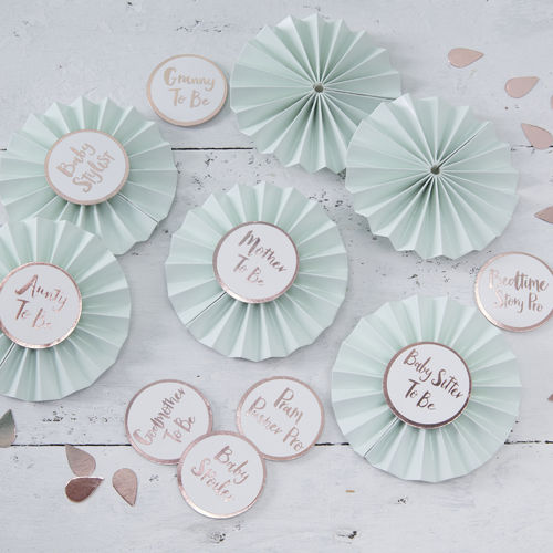 Hello World - Baby Shower Badge Kit