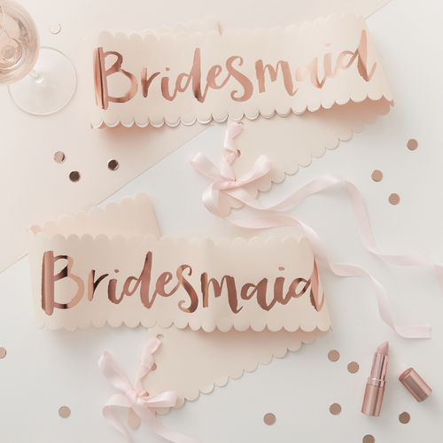 Bridesmaid Sashes - Team Bride Range