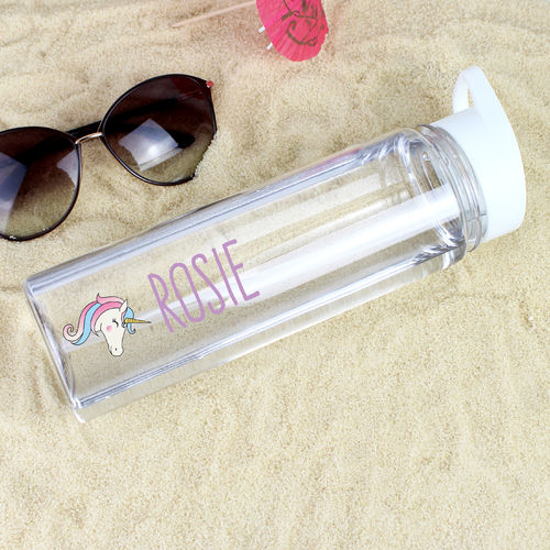 Personalised Water Bottle - Unicorn Design