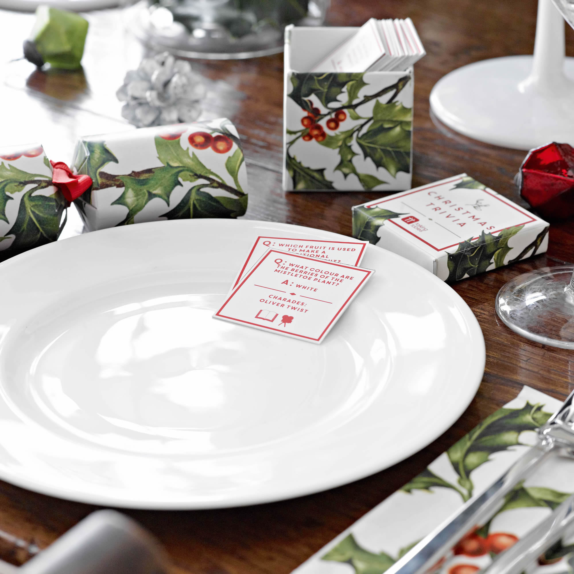 Botanical Christmas Holly Range