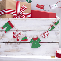 Christmas Elf Washing Line Bunting